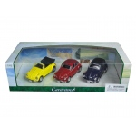 Volkswagen Beetle 3pc Gift Set 1/43 Diecast Model Cars by Cararama