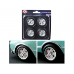 Custom Indy Style Wheels and Tires Set of 4 1/18 by ACME