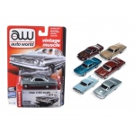 Autoworld Muscle Cars Release 5D Premium Licensed Set Of 6 Cars Limited Edition to 1836pcs 1/64 Diecast Model Car by Autoworld