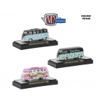 Auto Thentics 3 Cars Set Volkswagen USA Models WITH CASES 1/64 Diecast Model Cars by M2 Machines