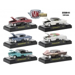 Auto Thentics 10th Anniversary 6 Piece Set Release 41 IN DISPLAY CASES 1/64 Diecast Model Cars by M2 Machines