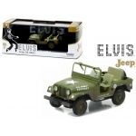 1963 US Army Jeep Willy's CJ-5 Elvis Presley (1935-1977) Cold War Era 1/43 Diecast Model Car by Greenlight