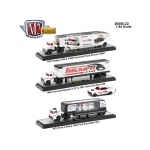 Auto Haulers Release 22, 3 Trucks Set 1/64 Diecast Models by M2 Machines