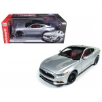 2017 Ford Mustang Gt 5.0 Ingot Silver and Optional Black Roof Limited Edition to 1002pcs 1/18 Diecast Model Car  by Autoworld