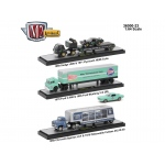 Auto Haulers Release 23, 3 Trucks Set 1/64 Diecast Models by M2 Machines
