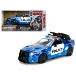 "Barricade Custom Police Car From ""Transformers"" Movie 1/24 Diecast Model Car by Jada Metals"