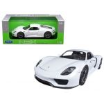 Porsche 918 Spyder With Top White 1/18 Diecast Model Car by Welly