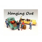 """Hanging Out"" 6 Piece Figure Set For 1:18 Scale Models by American Diorama"