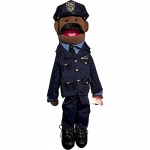 Sunny Toys Dad: Police Officer, Ethnic, 28""