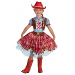 Buckaroo Beauty Child Costume (8-10): Red, Medium, Everyday, Female, Child
