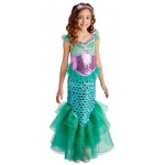 Blue Seas Mermaid Child Costume (8-10): Sea Green, Medium, Everyday, Female, Child