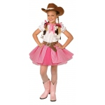 Cowgirl Cutie Child Costume (8-10): Pink, Medium, Everyday, Female, Child