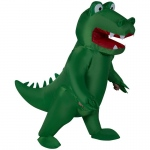 Inflatable Alligator Adult Costume: Green, One-Size, Everyday, Unisex, Adult