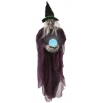"36"" Witch with Crystal Ball: Purple, Everyday, Unisex"