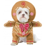 Gingerbread Pup Pet Costume - X-Small