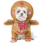 Gingerbread Pup Pet Costume - Large