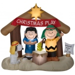 Airblown Peanuts Nativity Scene: Multi-colored, Christmas, Unisex