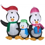 Airblown Penguin Family: Multi-colored, Christmas, Unisex