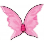 Fun World Hot Color Butterfly Wings - Pink One-Size