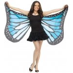Fun World Soft Butterfly Adult Wings - Blue One-Size