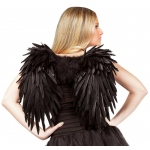 Angelic Feather Adult Wings - Black: One-Size, Everyday, Adult