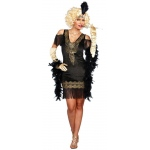 Swanky Flapper Dress Women's Adult Costume L: Large, Everyday, Adult
