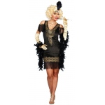 Swanky Flapper Dress Women's Adult Costume S: Small, Everyday, Adult