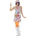 60's Groovy Chick Costume - Large