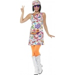 60's Groovy Chick Costume - Small