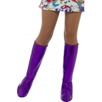Smiffy's GoGo Purple Boot Covers One-Size