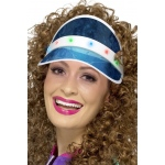 Smiffy's 80s Light Up Visor Blue One-Size