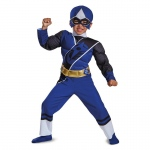 Blue Ranger Ninja Steel Toddler Muscle Costume - 3T-4T
