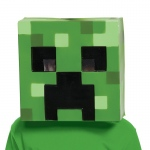 Disguise Minecraft Creeper Vacuform Child Mask One-Size