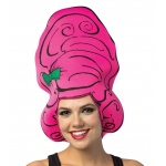 Cartoon Wig - Beehive Pink: One- Size, Everyday, Adult