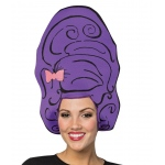 Cartoon Wig - Beehive Purple: One- Size, Everyday, Adult