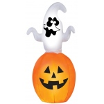 Sunstar Industries Animated Airblown Spinning Ghost in Pumpkin