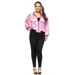 50's Ladies Adult Plus Size Jacket 16W-24W: Pink, Plus 16W-24W, Everyday, Female, Adult