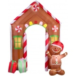 Airblown Archway Gingerbread House: Brown, Christmas, Unisex