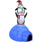 Projection Airblown Kaleidoscope - Igloo with Penguins: Multi-colored, Christmas, Unisex