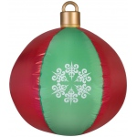 Airblown Hanging Ball Ornament: Red/Green, Christmas, Unisex
