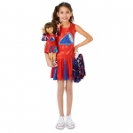 Cheer Team Child Costume M (8-10) with Matching 18 Doll Costume: Everyday, Female, Child