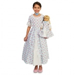 Fancy Early American Child Dress M (8-10) with Matching 18 Doll Costume: Everyday, Female, Child