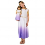 Purple Passion Greek Goddess Child Costume M (8-10) with Matching 18 Doll Costume: Everyday, Female, Child