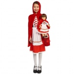 Red Riding Hood Classic Child Costume M (8-10) with Matching 18 Doll Costume: Everyday, Female, Child