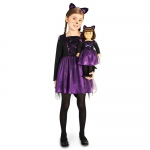 Ballerina Kitty Child Costume M (8-10) with Matching 18 Doll Costume: Everyday, Female, Child