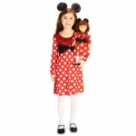Red and White Mouse Child Costume M (8-10) with Matching 18 Doll Costume: Everyday, Female, Child