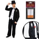 Great Gatsby 1920's Tuxedo Adult Costume Kit XL: X-Large, Everyday, Adult