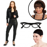 She's a 50's Rebel Adult Costume Kit S: Small, Everyday, Adult
