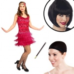 20's Vintage Inspired Flapper Adult Costume Kit S: Small, Everyday, Adult