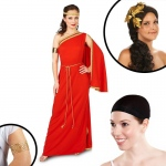 Royal Ruby Toga Adult Costume Kit S: Small, Everyday, Adult